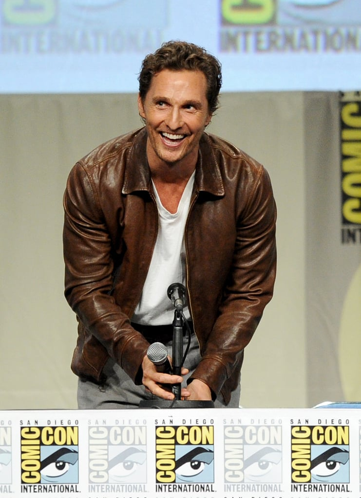 Matthew McConaughey cracked up at his first Comic-Con ever on Thursday.