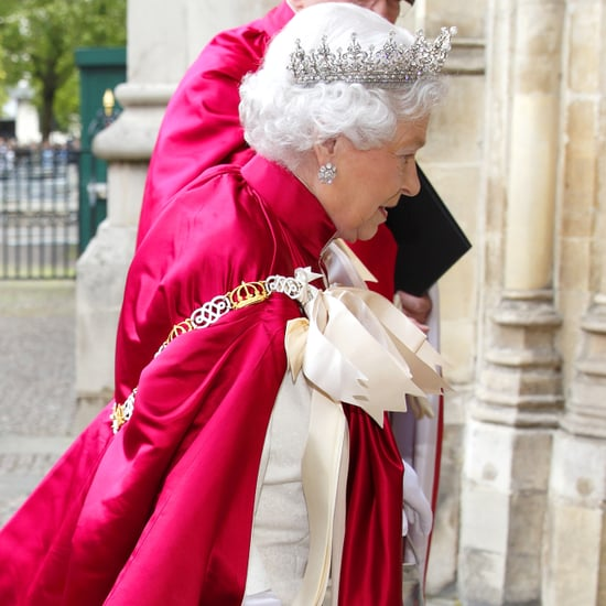 Queen Elizabeth In Regal Gown And Tiara At Order Of The Bath
