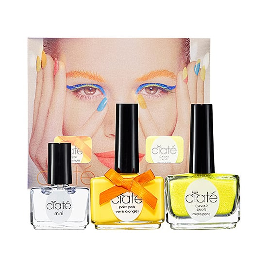 Turn up your manicure a few notches with Ciate Corrupted Neons Manicure Set in Megaphone ($25). Not only is it a hot summery shade of yellow, but it also comes with neon caviar beads and a top coat that glows under UV light.