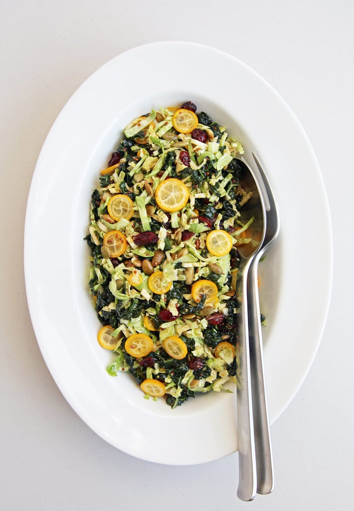 Shredded Brussels Sprouts and Kale Salad With Kumquats