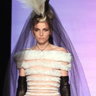 Androgynous Male Model Andrej Pejic at Jean Paul Gaultier Fashion Show