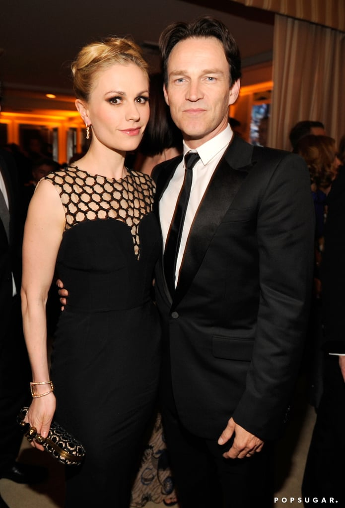 Anna Paquin and Stephen Moyer both donned black for the special Oscars afterparty in Hollywood on Sunday.