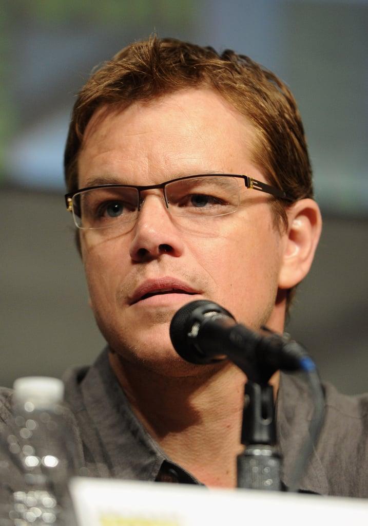 Matt Damon spoke during Sony's Eylsium panel during Comic-Con.