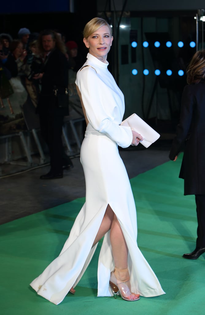 Cate Blanchett premiered The Hobbit: An Unexpected Journey in London.
