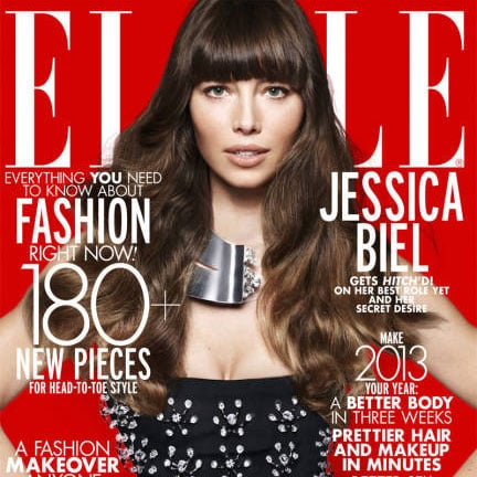 Jessica Biel on the Cover of Elle Magazine 2013 | Pictures