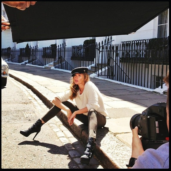 Gisele let us in on her latest project with this behind-the-scenes Instagram snap, and we're excited to see what the final H&M Fall 2013 campaign looks like! Source: Instagram user giseleofficial