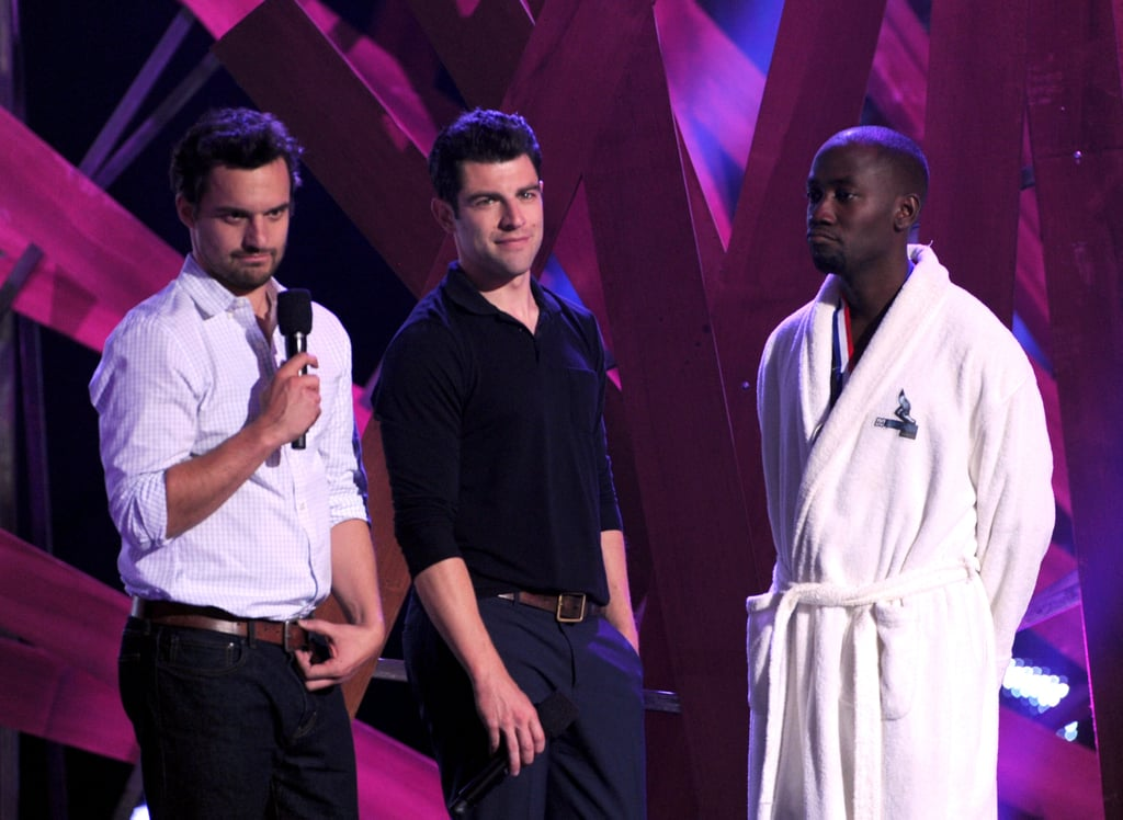 Max Greenfield, Lamorne Morris, and Jake Johnson laughed on stage together at the Do Something Awards.
