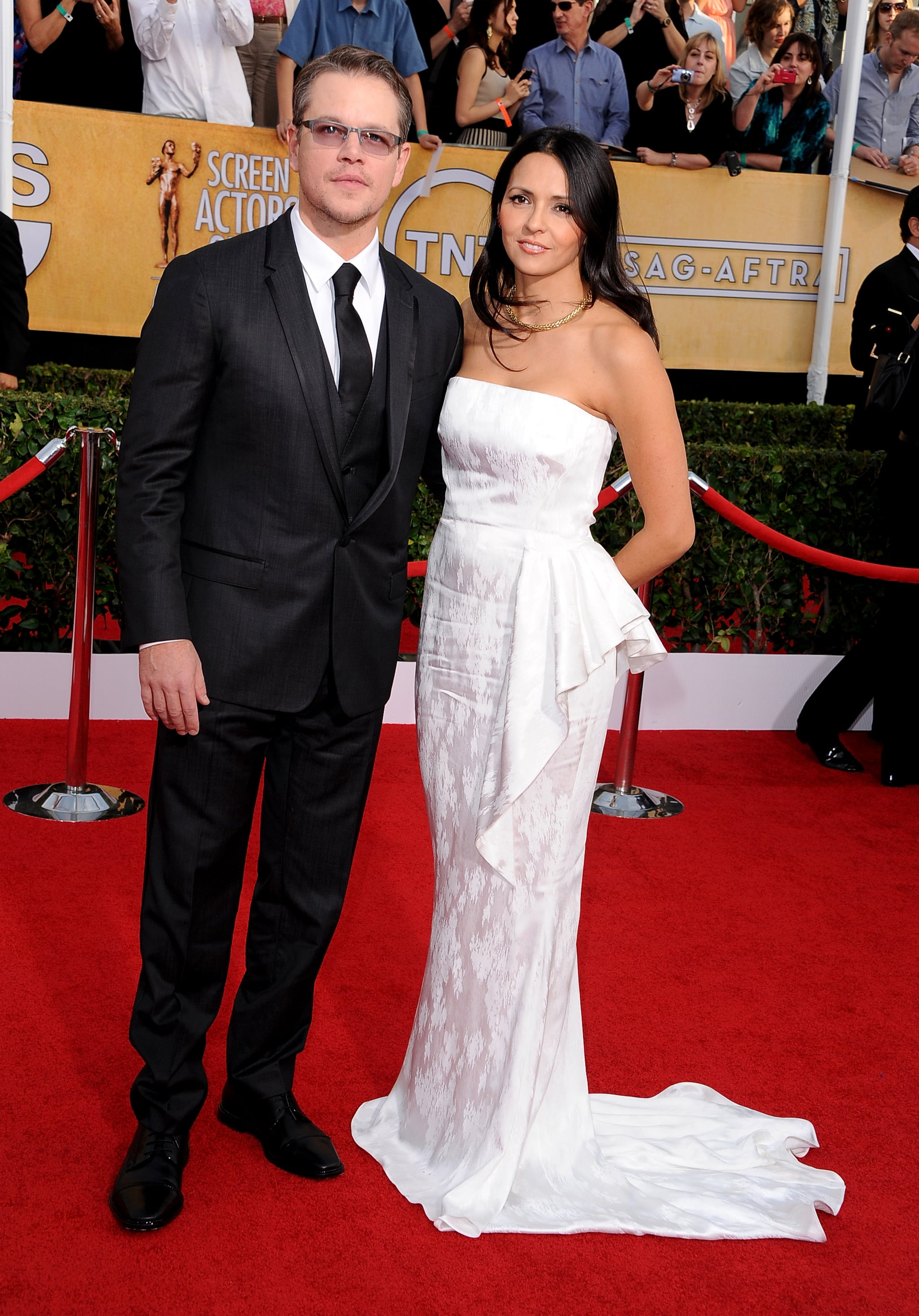 Matt Damon and his wife, Luciana, attended the SAG Awards.
