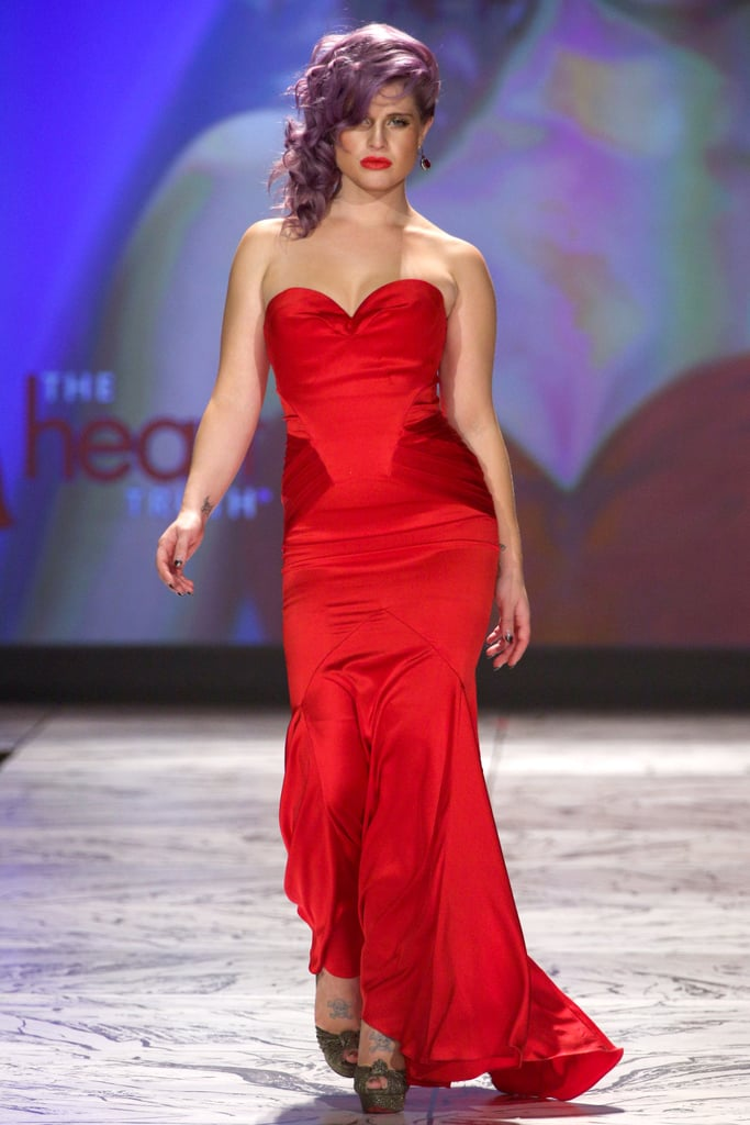 On Wednesday, Kelly Osbourne strutted down the runway for The Heart Truth's Red Dress Collection fashion show.