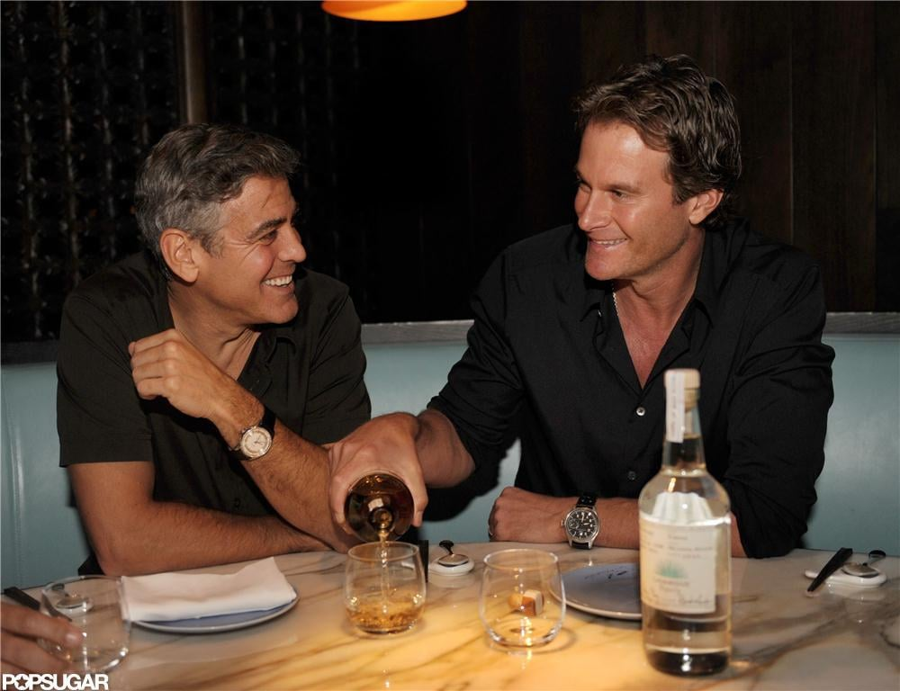 George Clooney laughed while launching his new tequila.