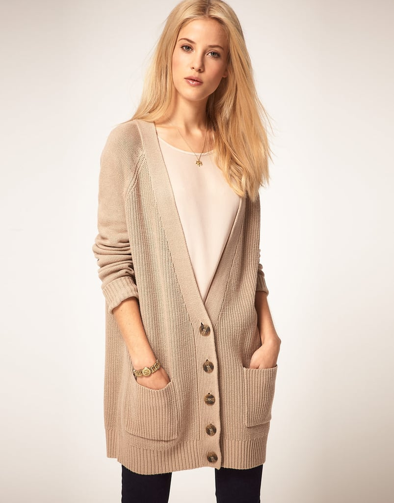 A slouchy cardigan like this has that awesome borrowed-it-from-my-boyfriend feel that makes our outfits look easy.  ASOS Boyfriend Cardigan ($82)