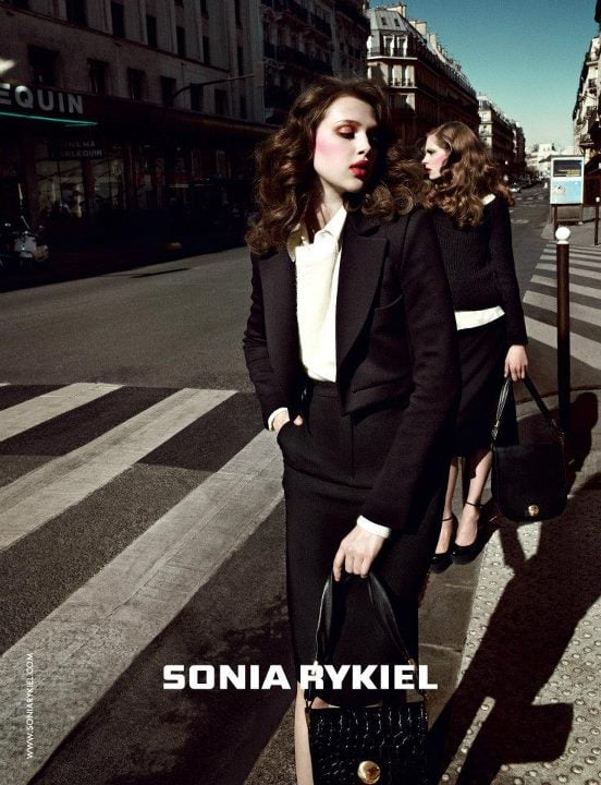 Sonia Rykiel's Fall ads take to the Parisian cityscape for a cool polished vibe.