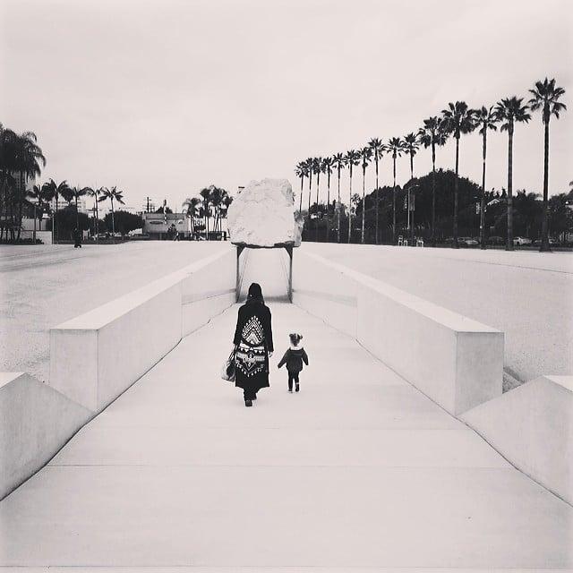 Jessica Alba and Haven Warren took in some art together. Source: Instagram user cash_warren