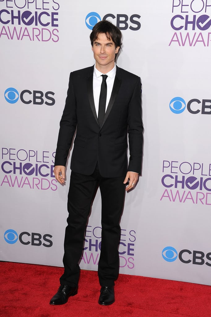 Ian Somerhalder looked dapper in a suit.