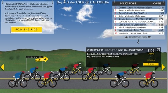 RIDE for LIVESTRONG Virtual Bike Race For Cancer Survivors