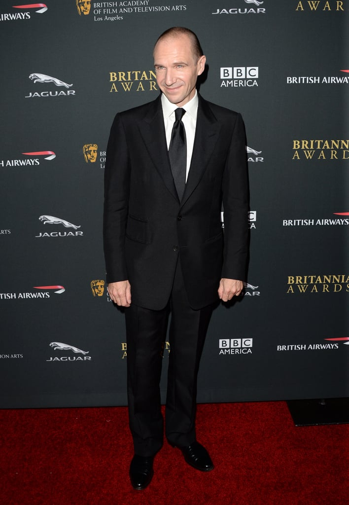 Ralph Fiennes posed on the red carpet.