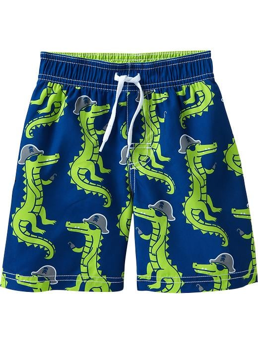 Never seen a crocodile pirate? There's a first for everything! Old Navy's cute trunks ($13) are an adorable, affordable option.