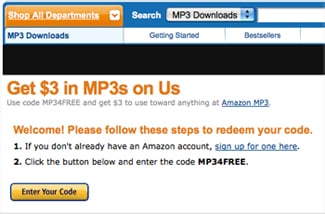 Get Free MP3s From Amazon — No Strings Attached