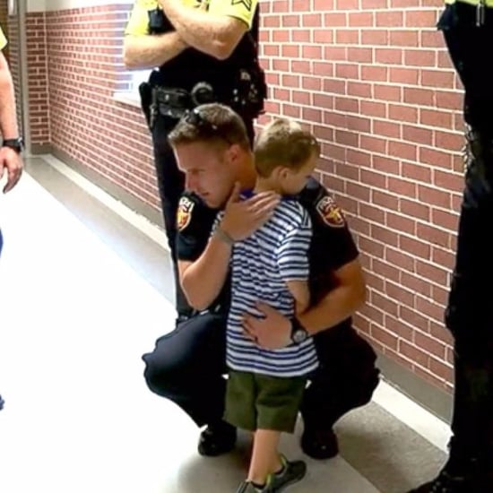 Texas Police Officers Surprise Kids Whose Father Died