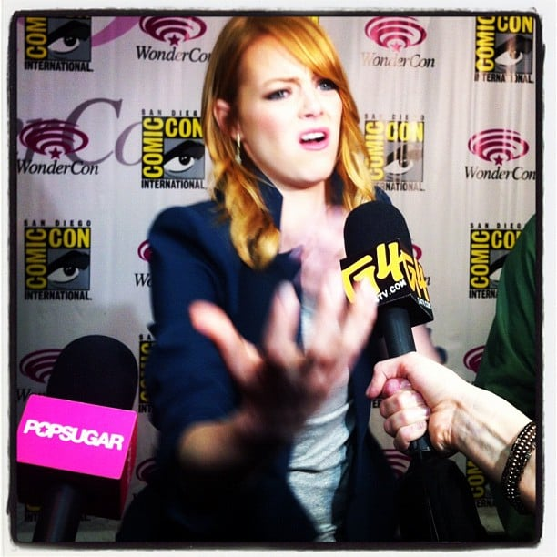 Emma Stone made a grand gesture when we talked her up during WonderCon.
