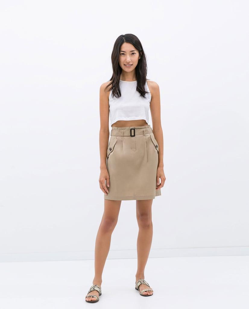 Zara Paper-Bag Waist Skirt