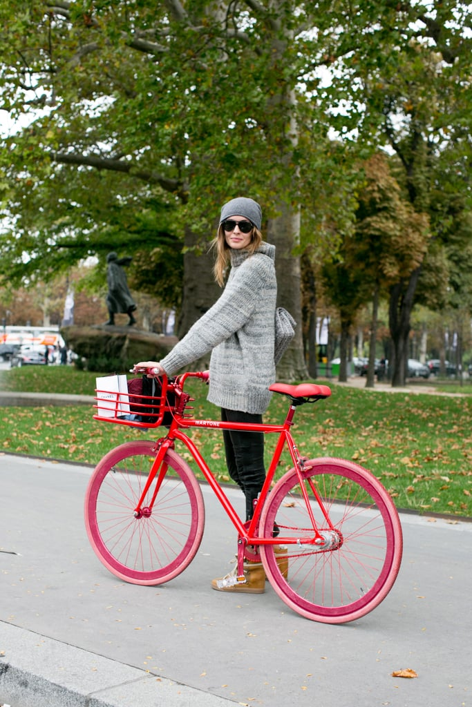 We don't know what we love more — those sneakers or that bike.