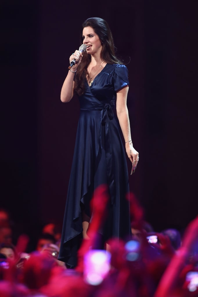 Lana Del Ray was on stage at the MTV EMAs.