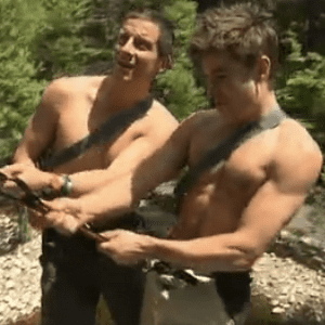 Shirtless Zac Efron Jumps Off a Cliff | Video