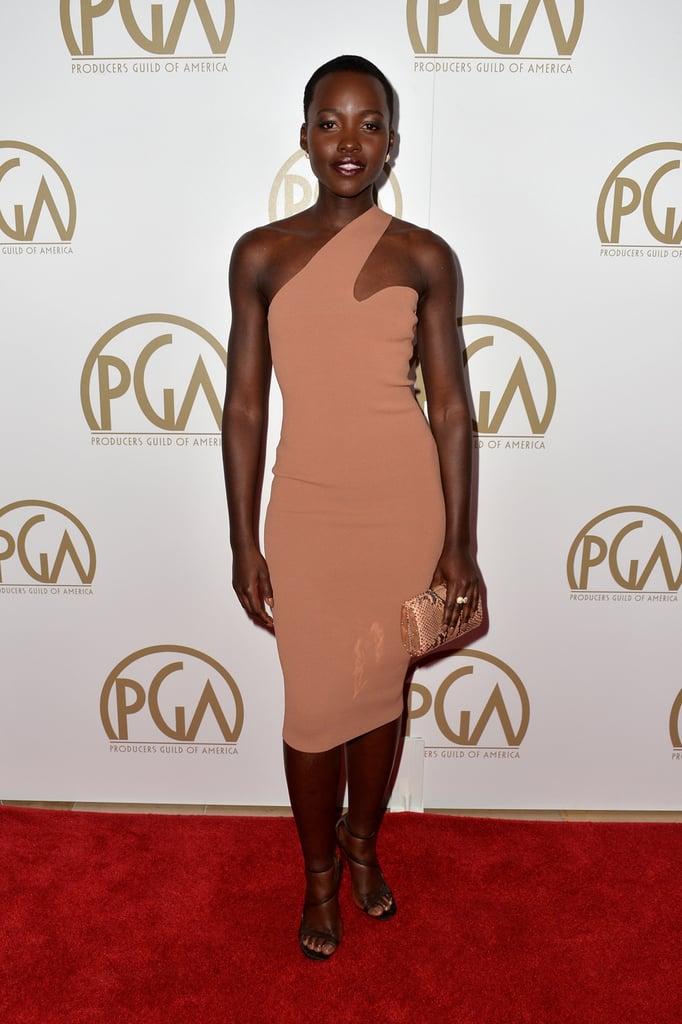 Lupita Nyong'o went with an elegant yet minimal look.