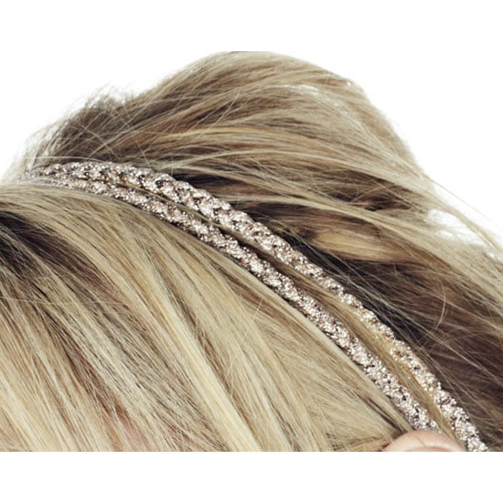 Jennifer Behr Double Metallic Braid Rope Headwrap, approx $98