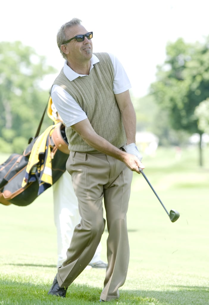 Kevin Costner showed off his skills during a charity round in Canada in July 2009.