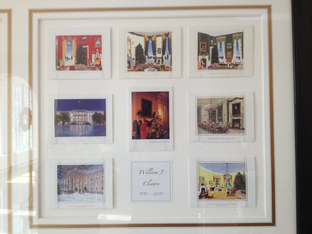 Another frame showed Christmas cards that had been sent by former presidents and first ladies.