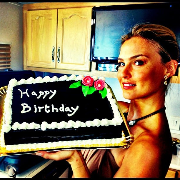 Bar Refaeli celebrated her birthday with a tasty-looking cake. Source: Instagram user iambarrefaeli