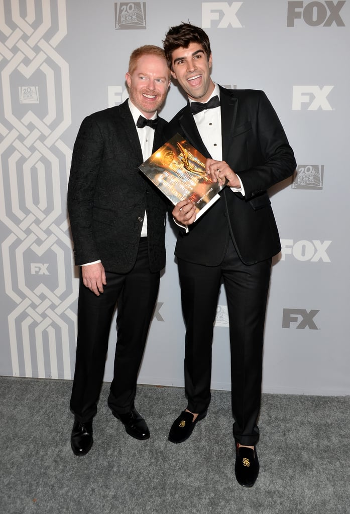 Jesse Tyler Ferguson and his husband, Justin Mikita, posed for photos.