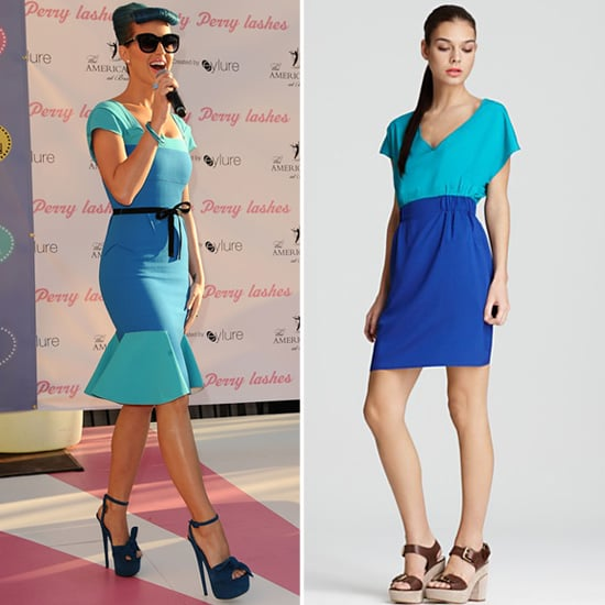 Katy Perry Aqua and Blue Dress