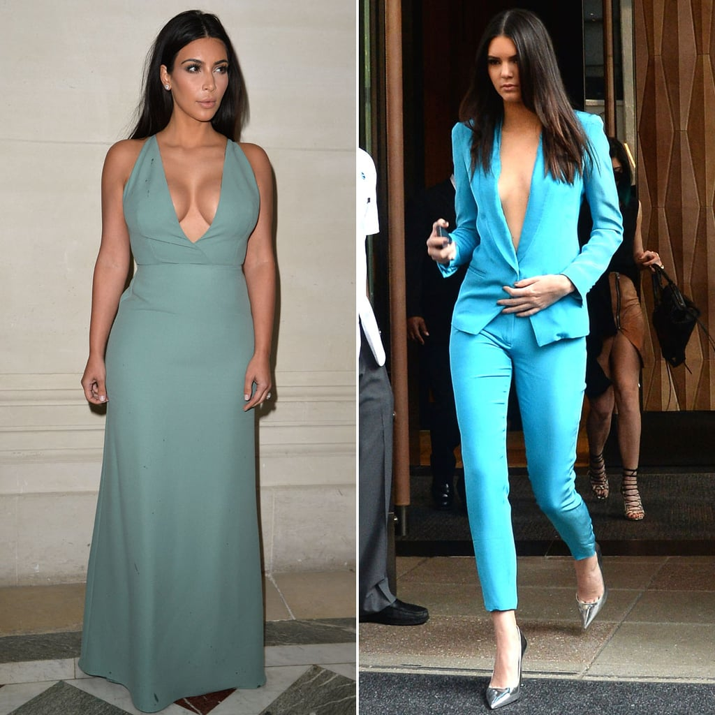 Who Wore Cleavage-Baring Blue Better?