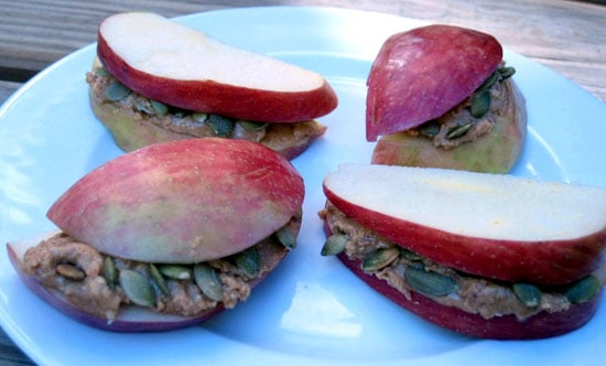 Peanut Butter and Pumpkin Seed Stacks