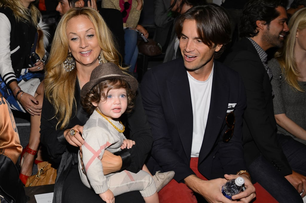 Skyler Berman took a seat on his Aunt Pamela's lap to watch mama Rachel Zoe's show this week. The Burberry-clad tot had the best seat in the house!