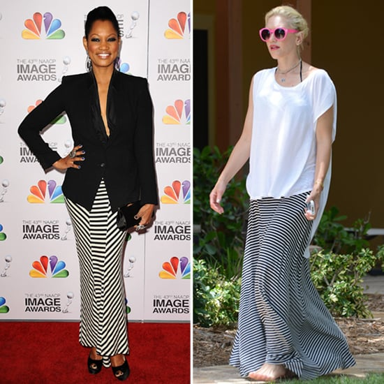 Striped Maxi Skirts (Celebrity Pictures and Shopping)
