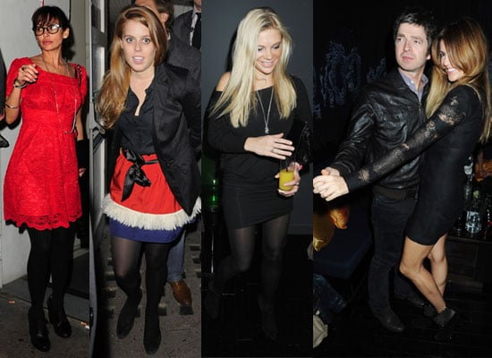 Photos of Chelsy Davy, Princess Beatrice, Natalie Imbruglia and Noel Gallagher at Chinawhites Reopening