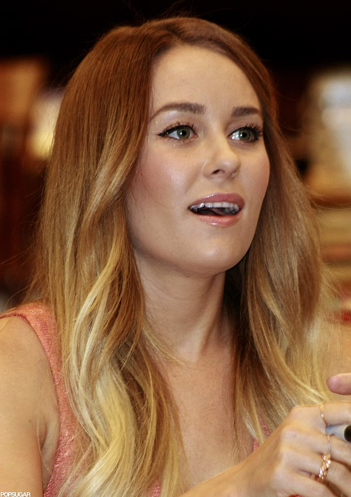 Lauren Conrad took a seat and signed books.