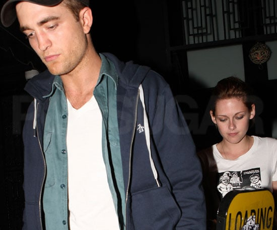 Slide Picture of Robert Pattinson and Kristen Stewart Leaving Club in LA