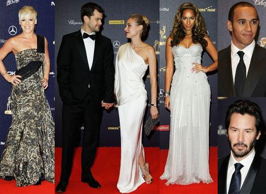 Photos of Diane Kruger, Joshua Jackson, Keanu Reeves, Leona Lewis, Lewis Hamilton and Pink at 2008 Bambi Awards in Germany