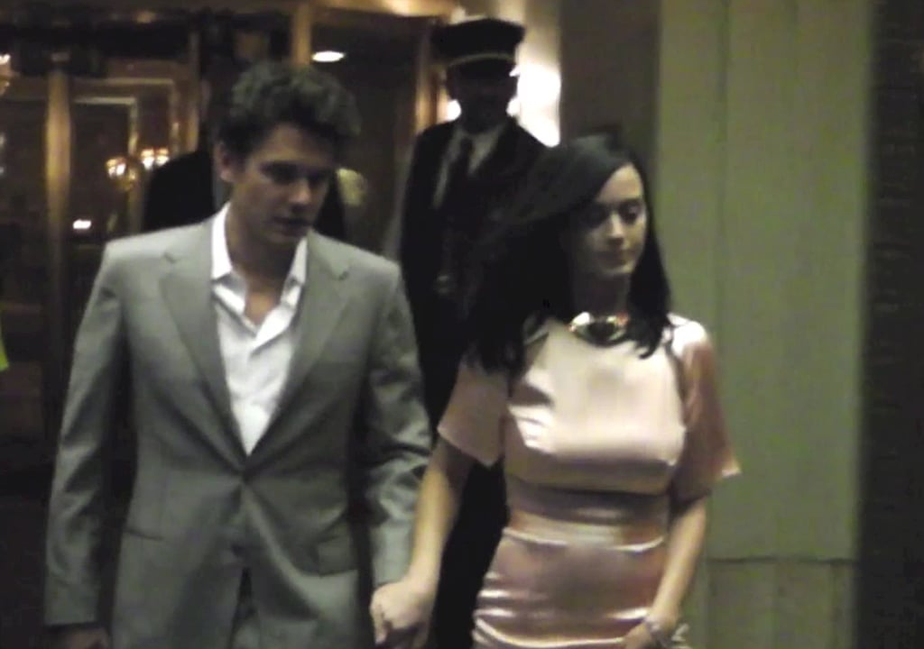 Back on? John Mayer and Katy Perry looked like they were giving their relationship another shot when they were spotted holding hands in New York on June 25.