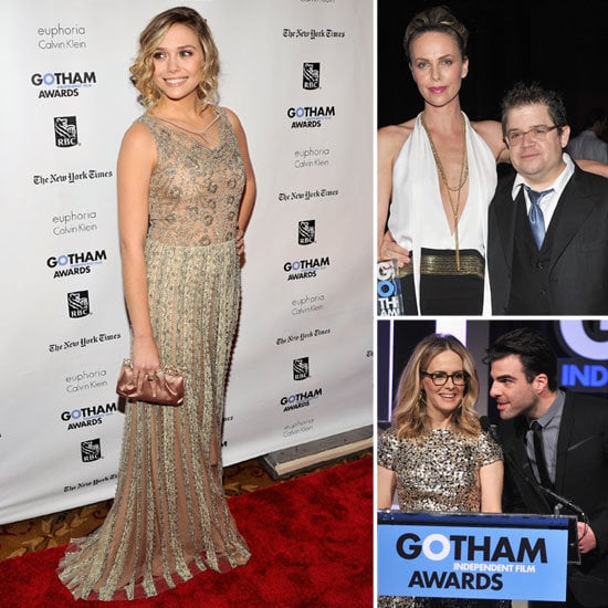Charlize Theron Sexy Dress and Elizabeth Olsen Pictures at 2011 Gotham Independent Film Awards