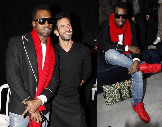 Kanye at Louis Vuitton Fashion Week