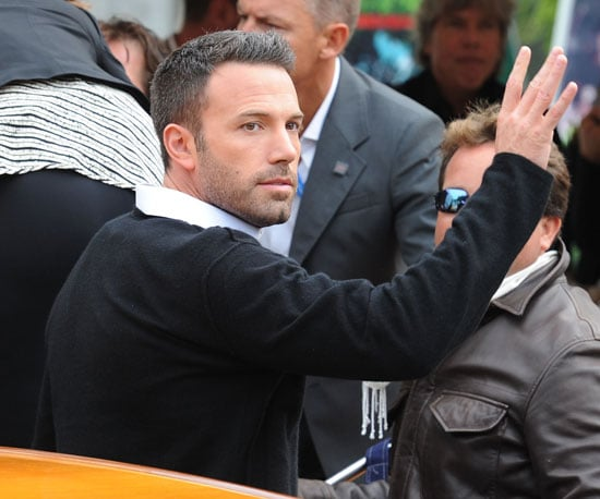 Slide Picture of Ben Affleck Stepping Out of His Boat at the Venice Film Festival
