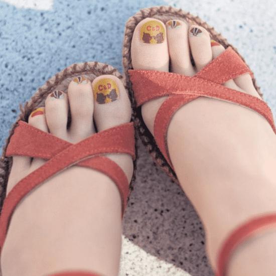 Japanese Pedicure Painted Toenail Tights
