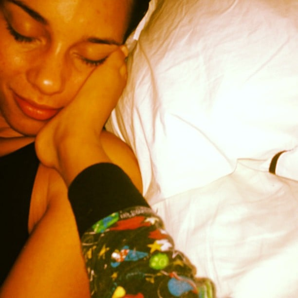 Alicia Keys snuggled with her son, Egpyt. Source: Instagram user aliciakeys