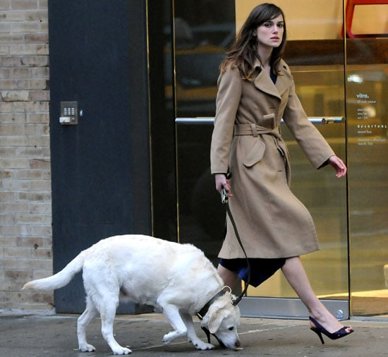 Keira Knightley Lallygags with Lovely Lab Last Night